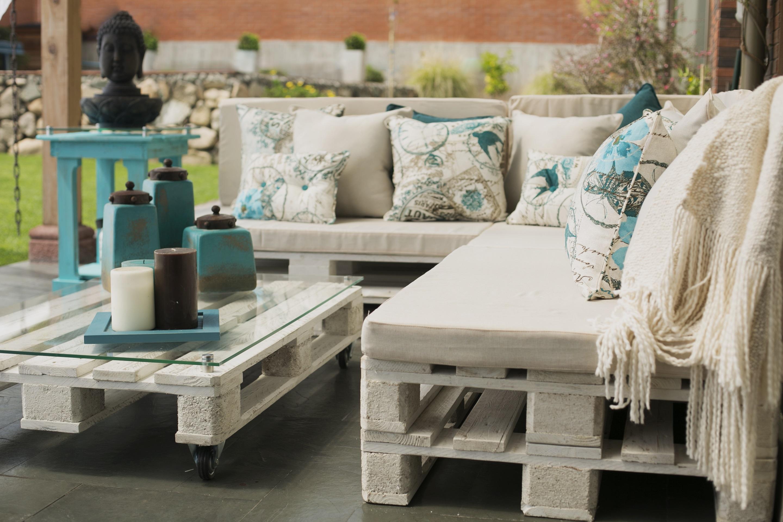 Terrazas de pallets en mercado libre for Muebles con palets para terraza