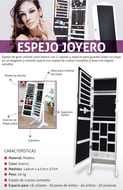Mueble espejo joyero grande zgs 910 nuevo metinca en - Mueble espejo joyero ...