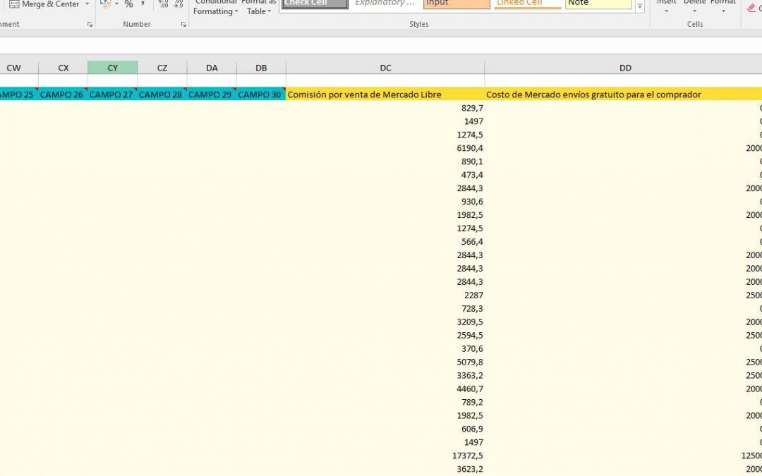 Los costos de envío, ahora en tu Excel de Zoco